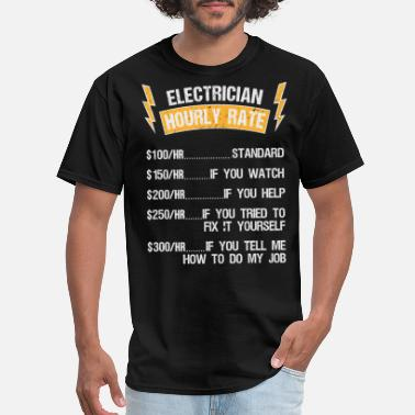 Alternative Electronician price hourly rate craftsman gift - Men's T-Shirt