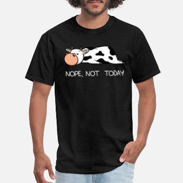 Lazy Funny lazy cow calf Nope not today farmer gift - Men's T-Shirt
