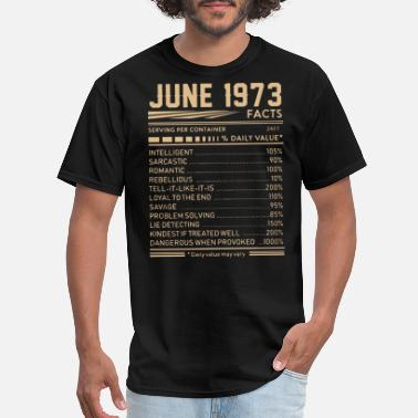 June 1973 june 1973 facts hipster t shirts - Men's T-Shirt