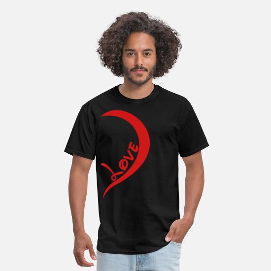 Valentine's Day T-Shirts - one_love_right_side - Men's T-Shirt black