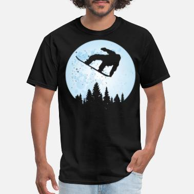Bigfoot Thanksgiving Day Snowboard Bigfoot Ski Funny Sasquatch Skiing - Men's T-Shirt