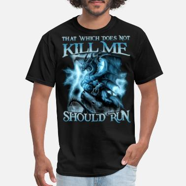 that whicj does not kill me should run science - Men's T-Shirt