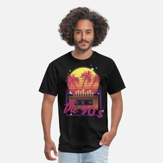 Colorcontest T-Shirts - The 90's music party and retro vintage style - Men's T-Shirt black