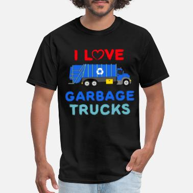 Recycle Garbage Truck Shirt Toddler Boy - I Love Garbage - Men's T-Shirt