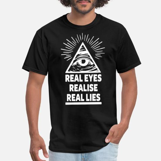 ALL SEEING EYE T SHIRT REAL EYES ILLUMINATI