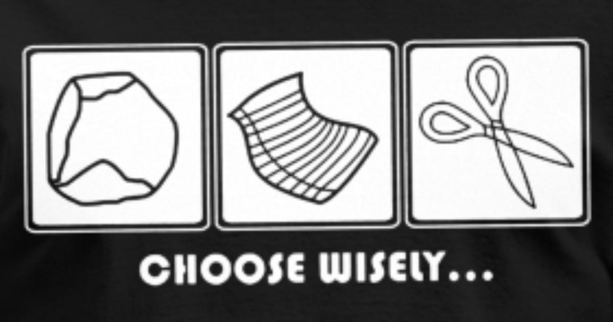 eea945df Choose Wisely Rock Paper Scissors Roshambo Ro Sham Men's T-Shirt ...