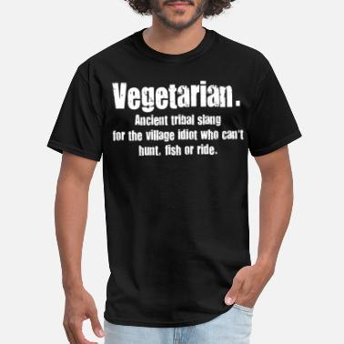 Chef Joke Vegetarian Slang food chef joke humour cook vegi f - Men's T-Shirt