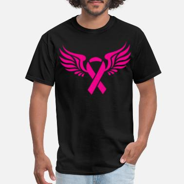 Breast Cancer Ribbon Baseball Breast Cancer Awareness Support Pink Ribbon mom T - Men's T-Shirt