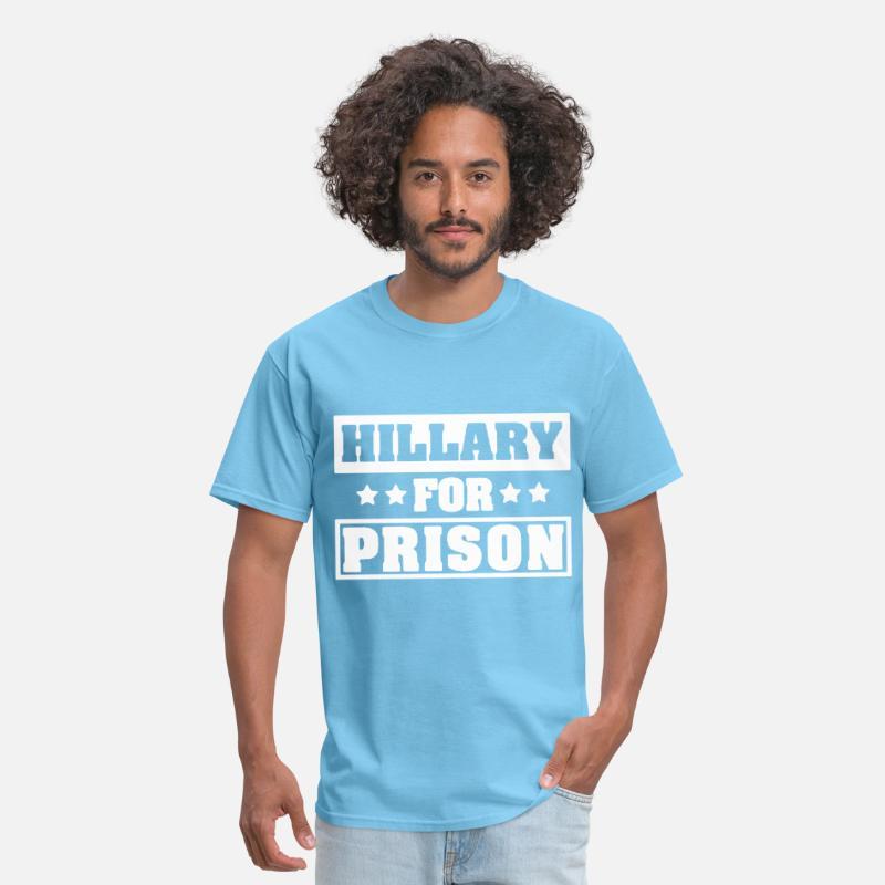 43faf4af Hillary Clinton For Prison Trump Funny Political t Men's T-Shirt |  Spreadshirt