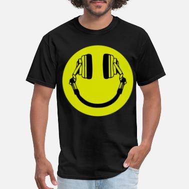 Molly Girl Headphone Smiley Acid House Cans MUSIC RAVE WEED D - Men's T-Shirt