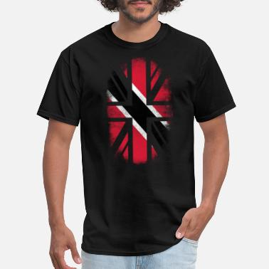 Trinidad & Tobago Souvenirs British Trini Flag - Trinidad, Tobago and UK Pride TShirt - Men's T-Shirt