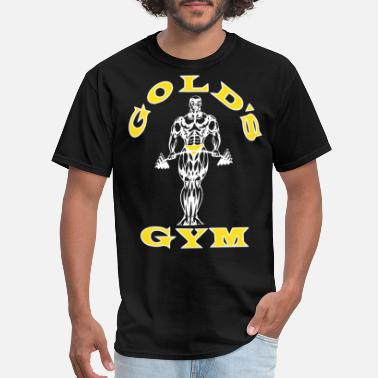 Gold Golds Gym Men s Bodybuilding Stringer Tank Top Mus - Men's T-Shirt