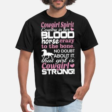 Cowgirl Sex cowgirl spirit coutry in her blood cow t shirts - Men's T-Shirt