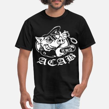 Anti Dairy Ac Ab Pig Nwo Antifa Hooligans Anti Police Anonymo - Men's T-Shirt