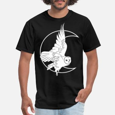 Owl Moon Witch Barn Owl Witchy Witch Clothing Creepy C - Men's T-Shirt
