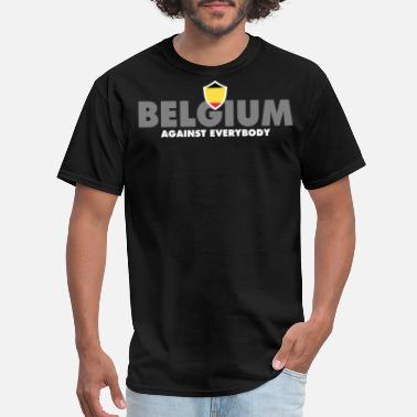 Belgium Tennis Belgium Against Everybody - Men's T-Shirt