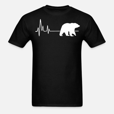 ca516f4b283 My Heart Beats For Grizzly Bears Heartbeat T-Shirt Unisex Baseball T ...