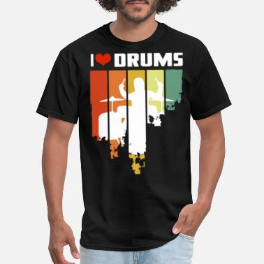 Tambores I Love Drums Vintage Edition - Men's T-Shirt
