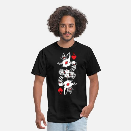 Poker T-Shirts - rabbit king of hearts poker - Men's T-Shirt black
