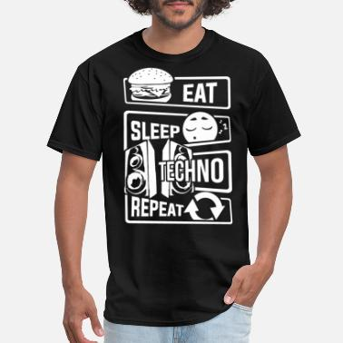 Electronic Music Eat Sleep Techno Repeat - Party Electronic Music - Men's T-Shirt
