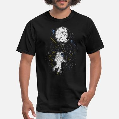 Outerspace Astronaut with Moon Balloon Galaxy Spaceship Space - Men's T-Shirt