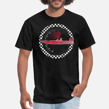 Power Boat Racing Shirt Love Speed Boat Racing Shirt Checkered Flag Motorboat Shirt - Men's T-Shirt