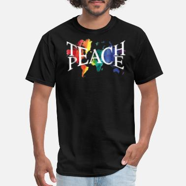 Peace Movement Teach Peace for teachers and educators - Men's T-Shirt