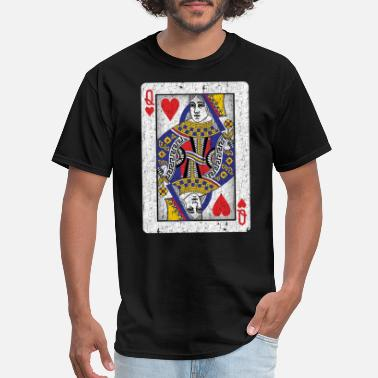Playing queen of hearts playing card - Men's T-Shirt