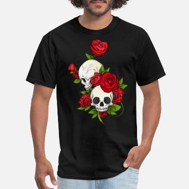 Rose SKULLS AND ROSES - Men's T-Shirt