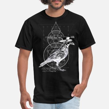 Surreal The Plague Raven - dark version - Men's T-Shirt