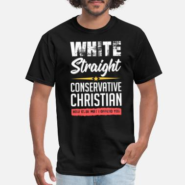 Anti Funny political conservative Christian gift idea - Men's T-Shirt