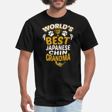 Japanese Grandma World's Best Japanese Chin Grandma - Men's T-Shirt