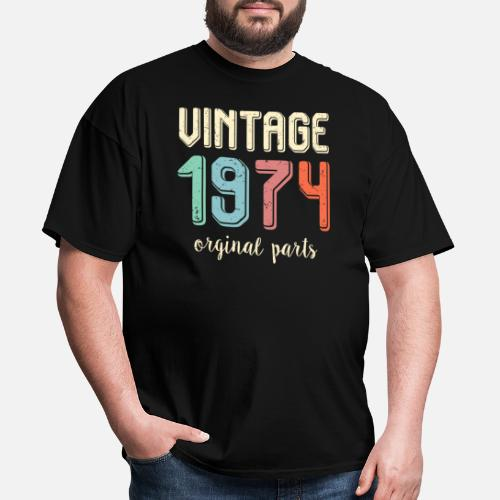 Vintage Retro 1974 45 Years Old 45th Birthday Gift Mens T Shirt