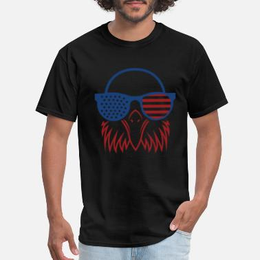 f7f83cb79 Funny Military Cute Patriotic Eagle American Flag Graphic Men - Men's T