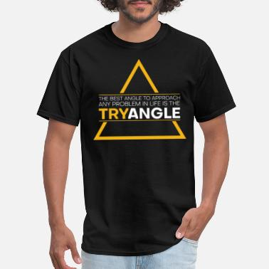 Speaking Mathematicians Trying Angles Inspiring Quote Tee - Men's T-Shirt