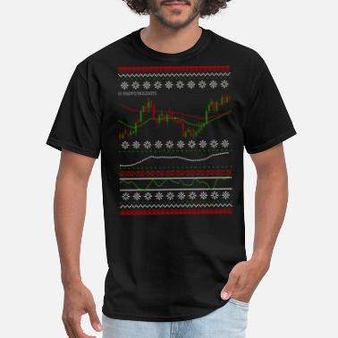 Market Ugly Chart - Happy Holidays - Men's T-Shirt