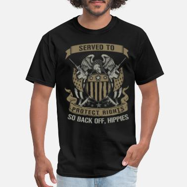 Marine Military - Served to protect rights so back off - Men's T-Shirt