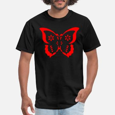 Red-butterfly butterfly illustration red - Men's T-Shirt
