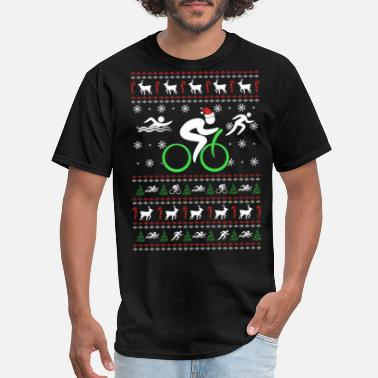 Triathlons Triathlon - Triathlon - Triathlon chistmas swear - Men's T-Shirt