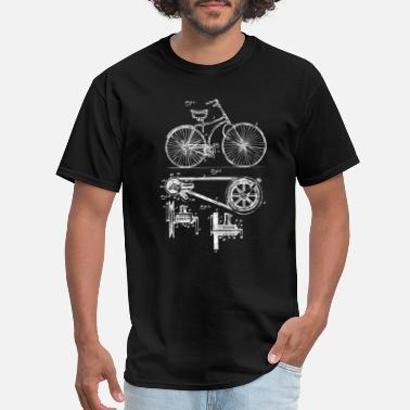 Lovers Retro Vintage Bike Lover Print Patent Cycling Gift - Men's T-Shirt