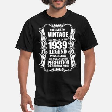 1939 Premium Vintage Made in 1939 Legend was Born aged - Men's T-Shirt