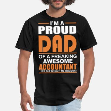 Accountant Biker Accountant - Proud dad of an awesome accountant - Men's T-Shirt