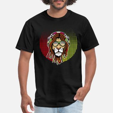 Dreadlock Lion Rastafari Lion - Men's T-Shirt