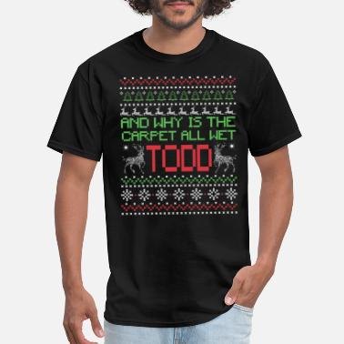 Ugly Funny Christmas Design | Why is the Carpet - Men's T-Shirt