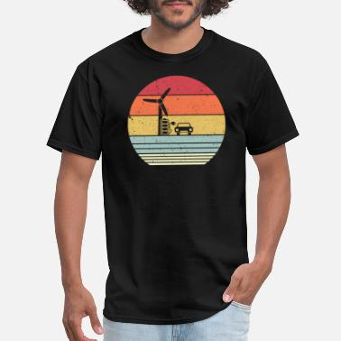 Turbine Climate Change Design. Retro Style Renewable - Men's T-Shirt