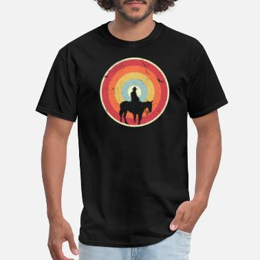 Wild West Cowboy/ Design. Retro Horse Graphic, Wild West Tee - Men's T-Shirt