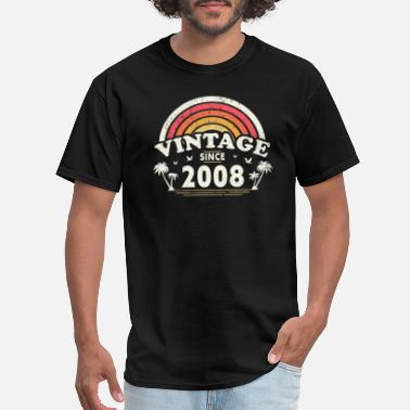 Punch Vintage Since 2008, Birthday Gift For Men And - Men's T-Shirt