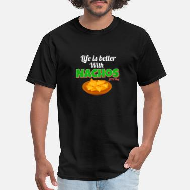 The Vlog Life Life is Better with Nachos - Men's T-Shirt