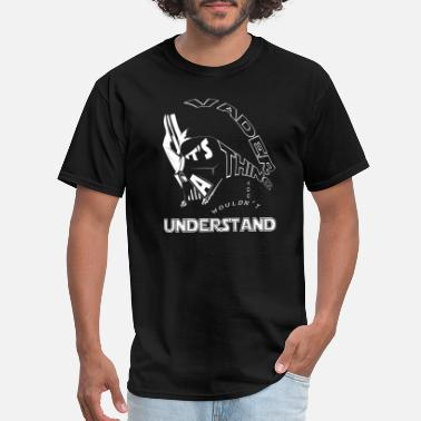 Darth Vader Snowboarding Vader - It's a thing you wouldn't understand - Men's T-Shirt
