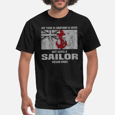 Popeye Sailor never ends - My time in uniform is over - Men's T-Shirt